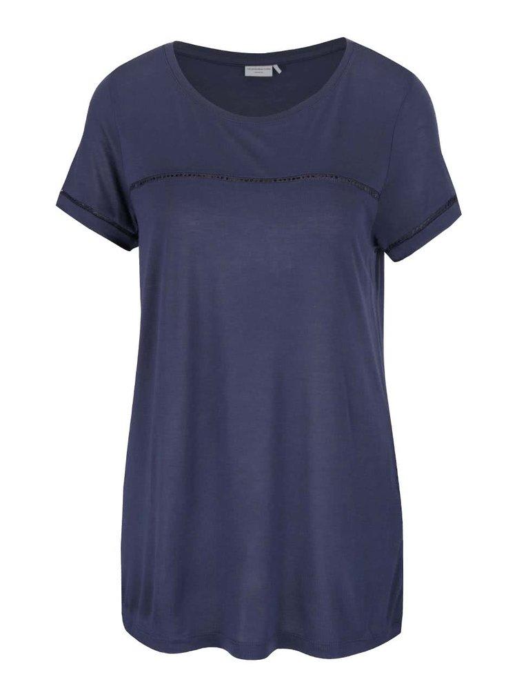 Modré tričko s krátkým rukávem Jacqueline de Yong Sika