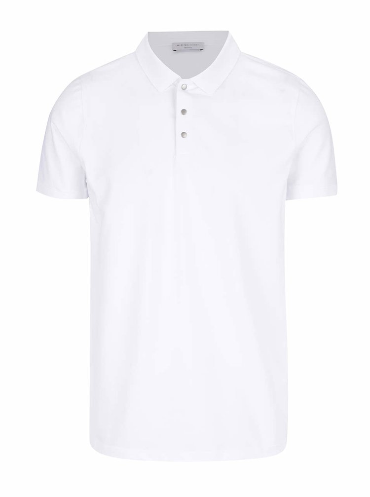 Bílé polo triko Selected Homme Damon
