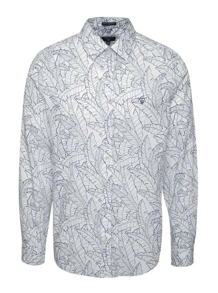 Modro-krémová pánská košile GANT Leaf
