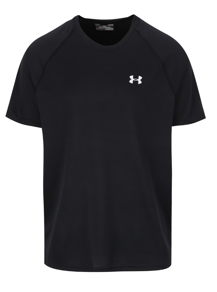 Černé pánské funkční tričko s logem Under Armour UA Tech SS Tee