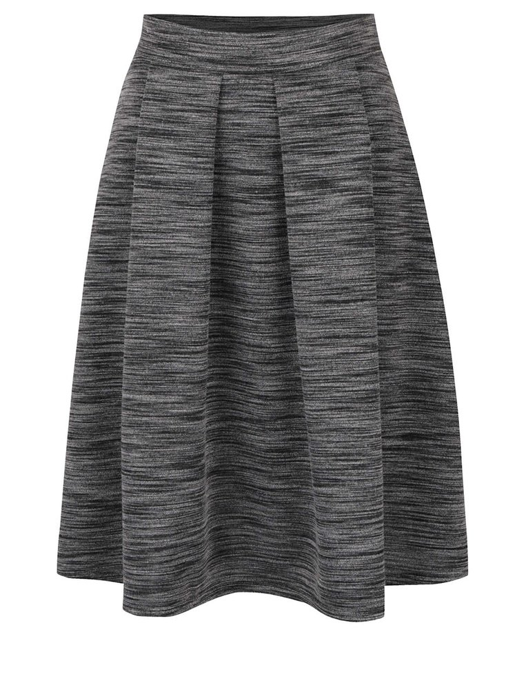 Šedá žíhaná áčková sukně Alchymi Cora