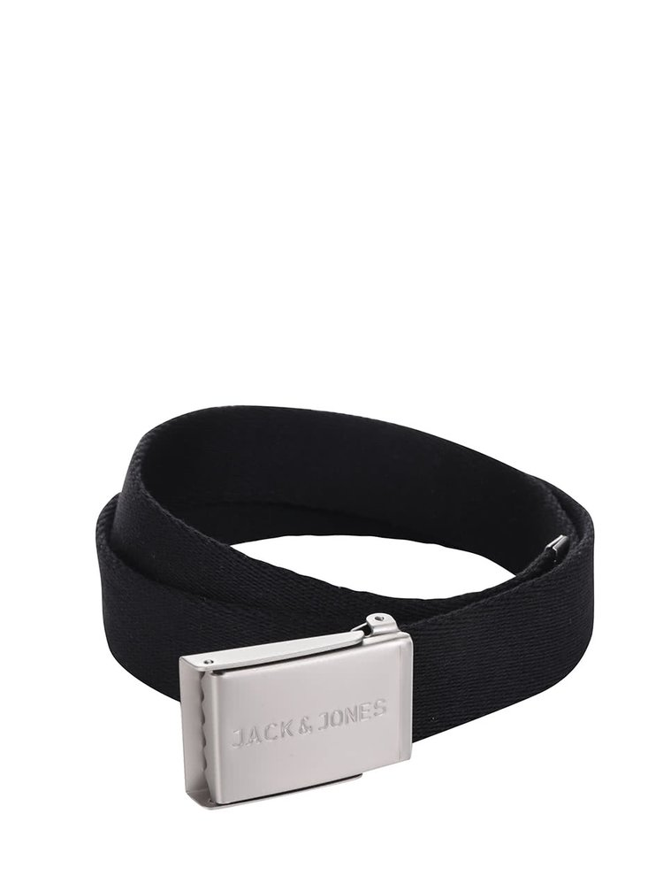 Černý pásek Jack & Jones Melange