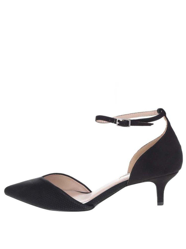 Pantofi negri decupați Miss KG cu toc kitten