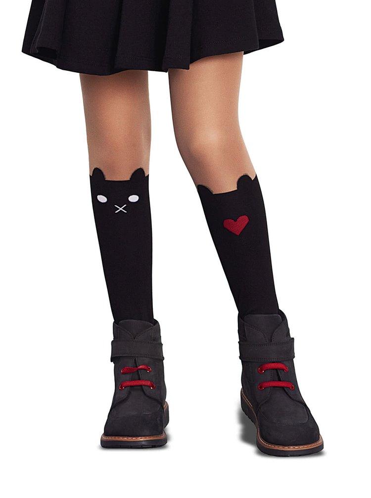 5ae81cfe0a Telovo-čierne dievčenské pančuchy s motívom mačky Penti Sweet 30 DNÍ ...