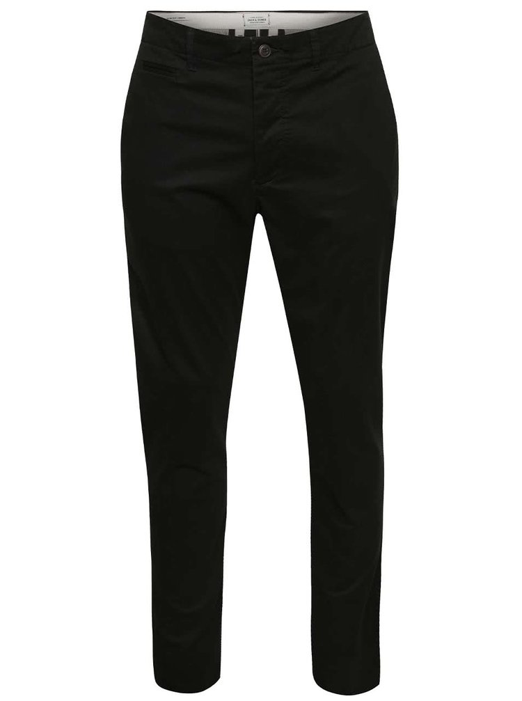 Černé chino kalhoty Jack & Jones Marco