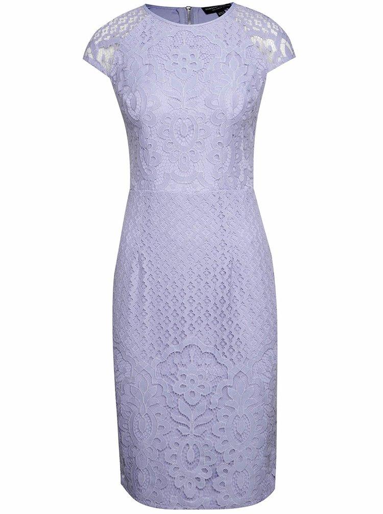 Světle fialové krajkové šaty Dorothy Perkins