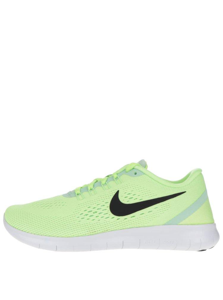 Zelené dámske tenisky Nike Free Running