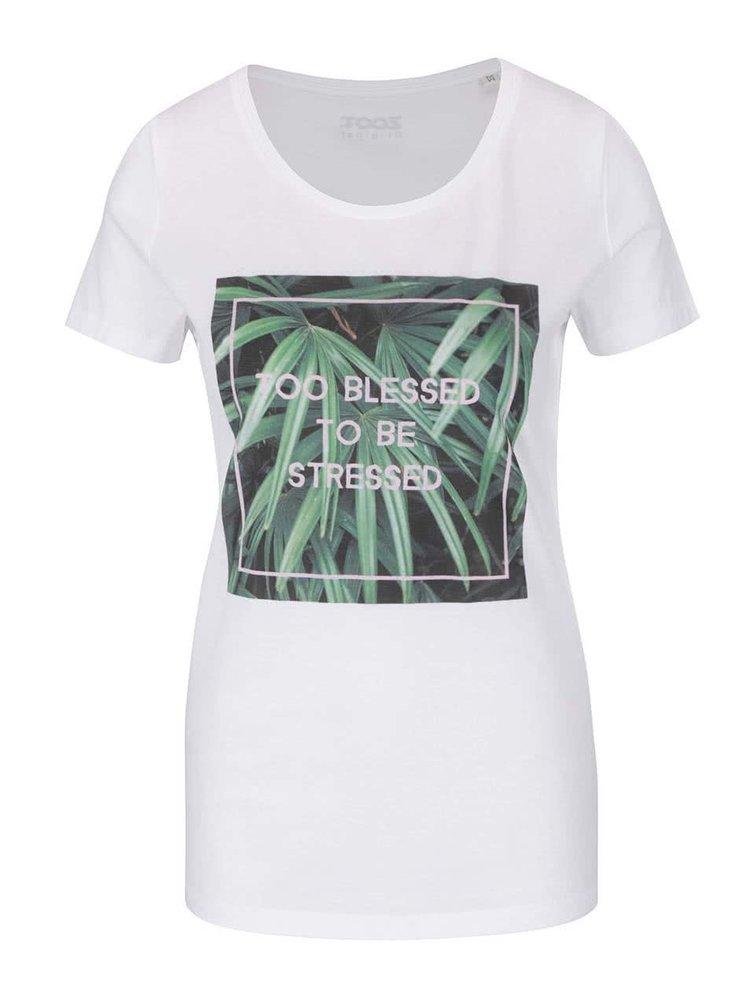 Bílé dámské tričko ZOOT Originál Too Blessed