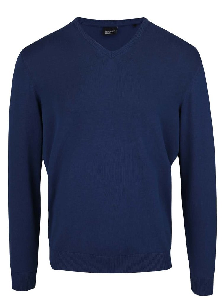 Tmavě modrý pánský svetr bugatti