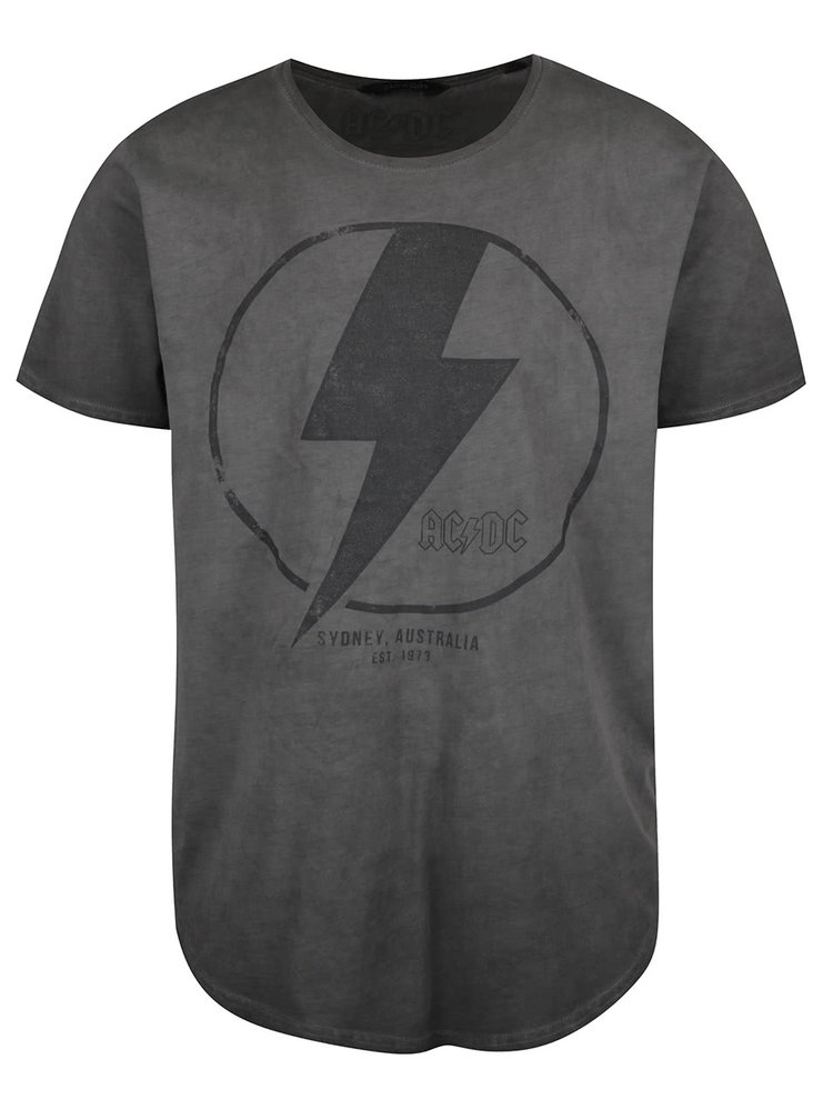 Tmavě šedé triko s potiskem ONLY & SONS ACDC
