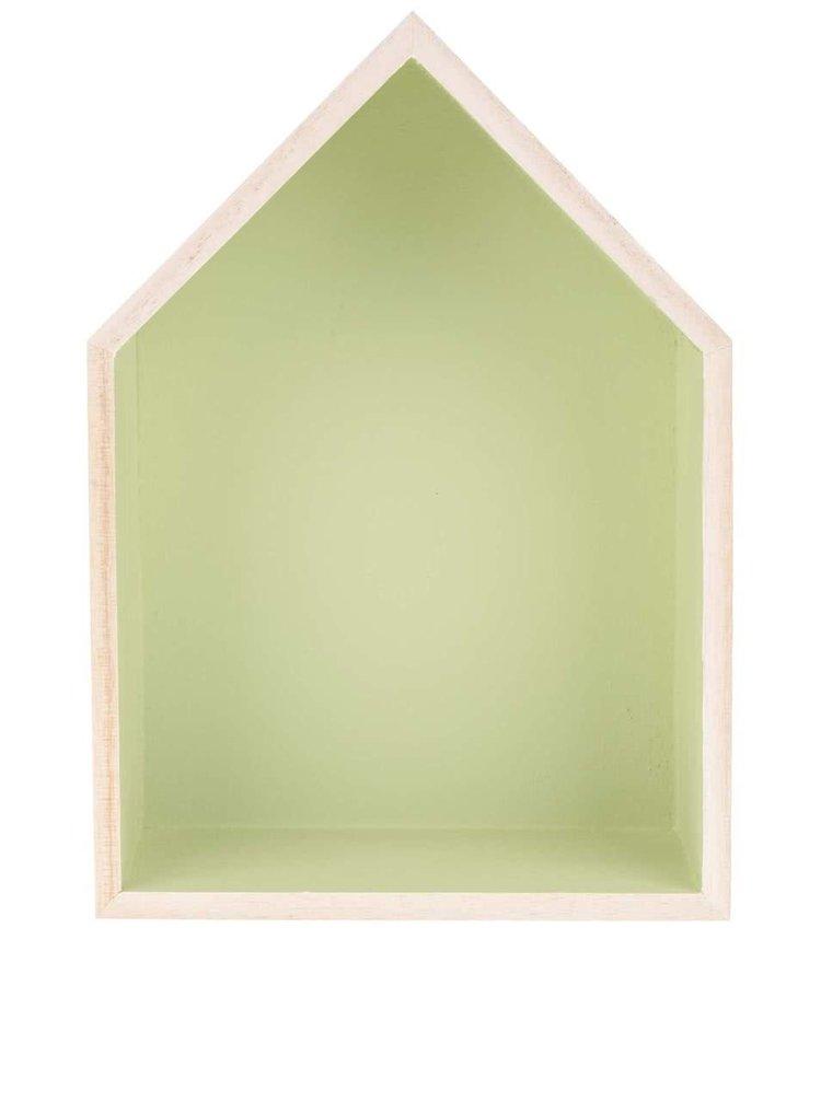 Světle zelený závěsný malý domeček Dakls