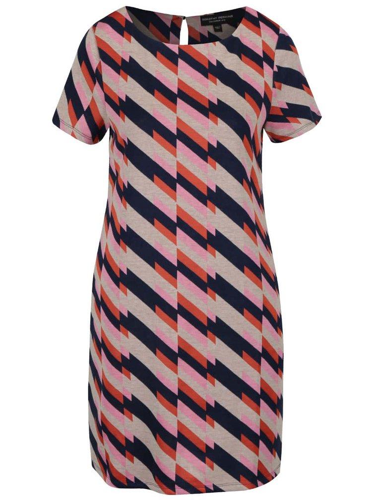 Růžovo-béžové šaty Dorothy Perkins