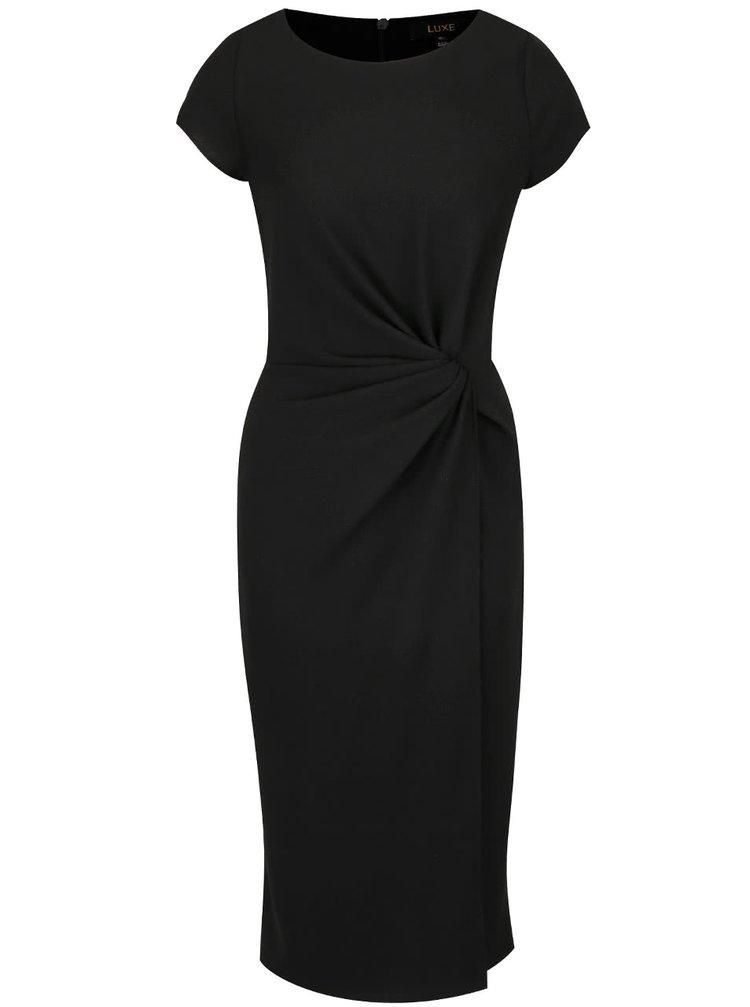 Černé šaty s řasením Dorothy Perkins