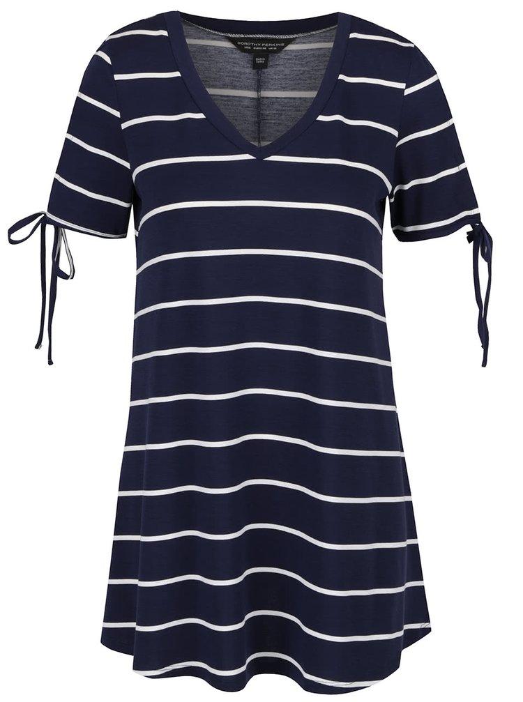 Tricou albastru Dorothy Perkins  în dungi