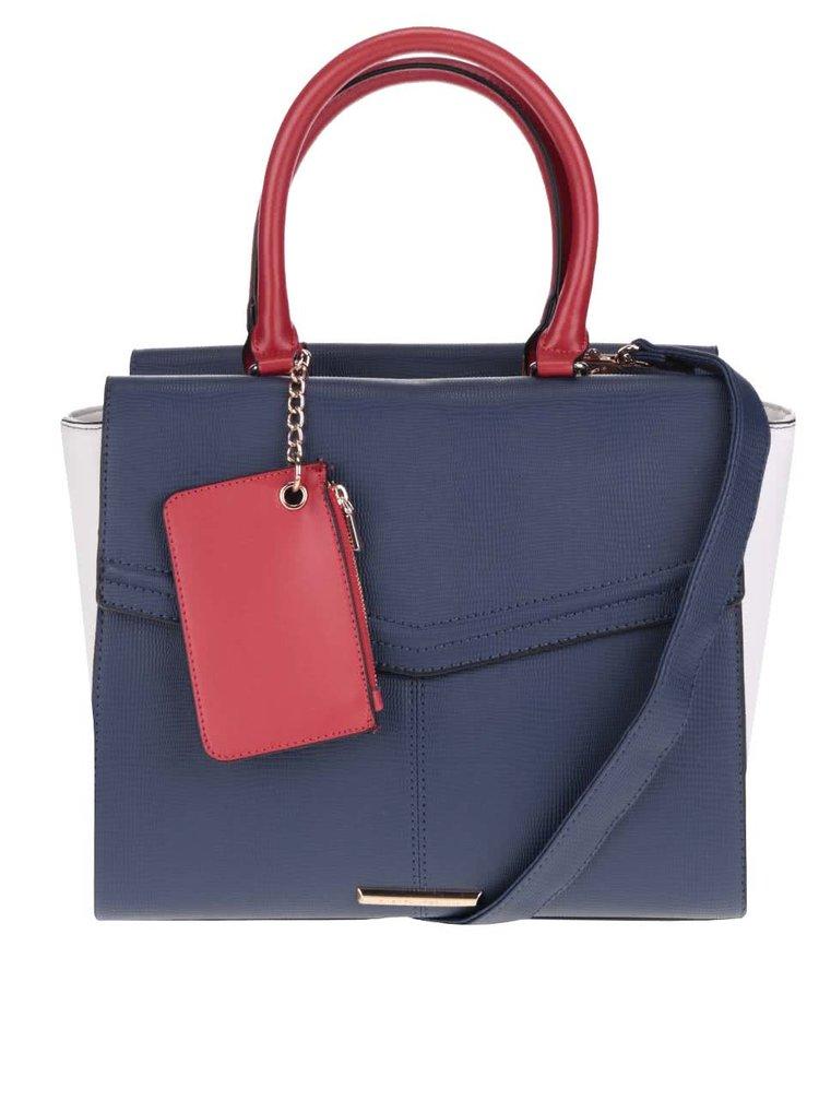 Krémovo-modrá kabelka do ruky Dorothy Perkins