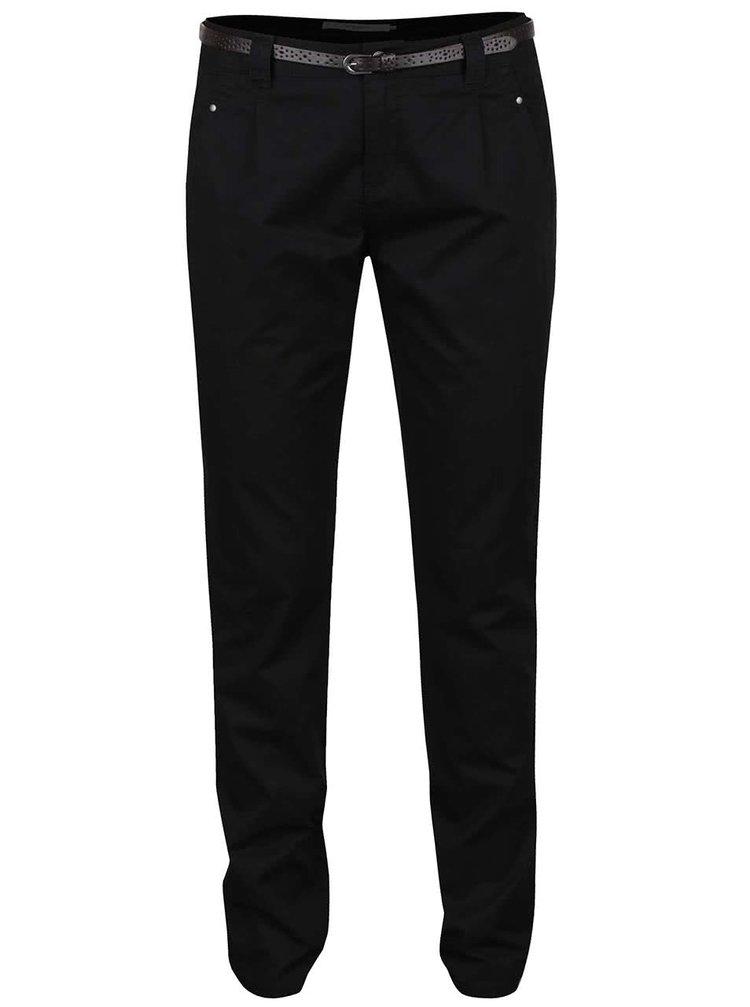 Černé chino kalhoty s páskem VERO MODA Boni