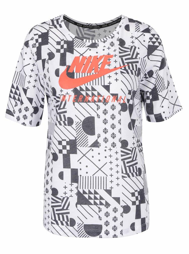 Tricou crem cu negru Nike cu print