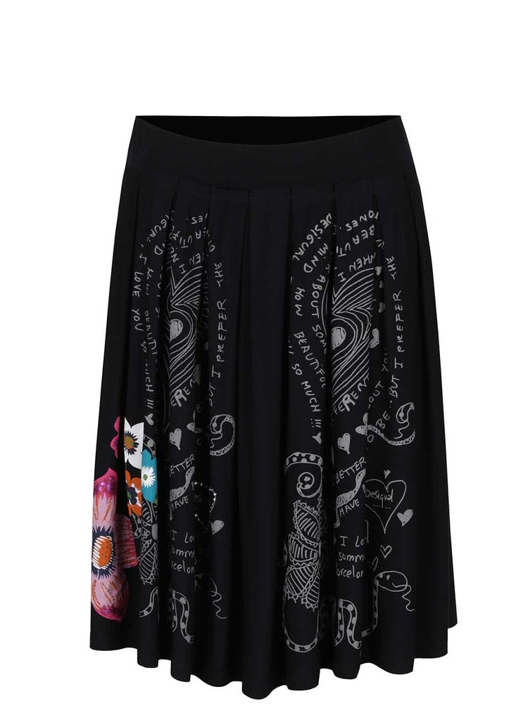 Černá sukně se vzorem Desigual Lola