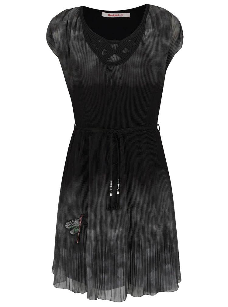 Rochie verde cu negru Desigual Yele