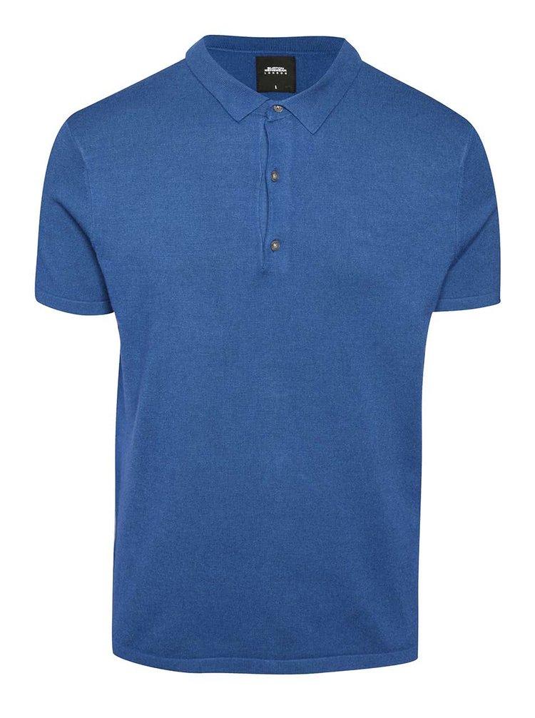 Tricou polo albastru Burton Menswear London
