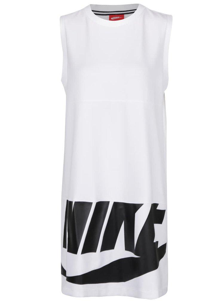 Bílé šaty s potiskem Nike Sportswear Dress