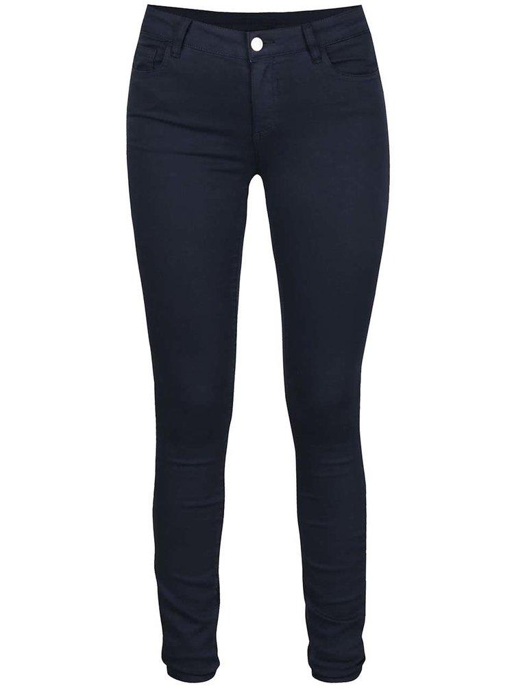 Tmavě modré slim fit kalhoty VILA Commit
