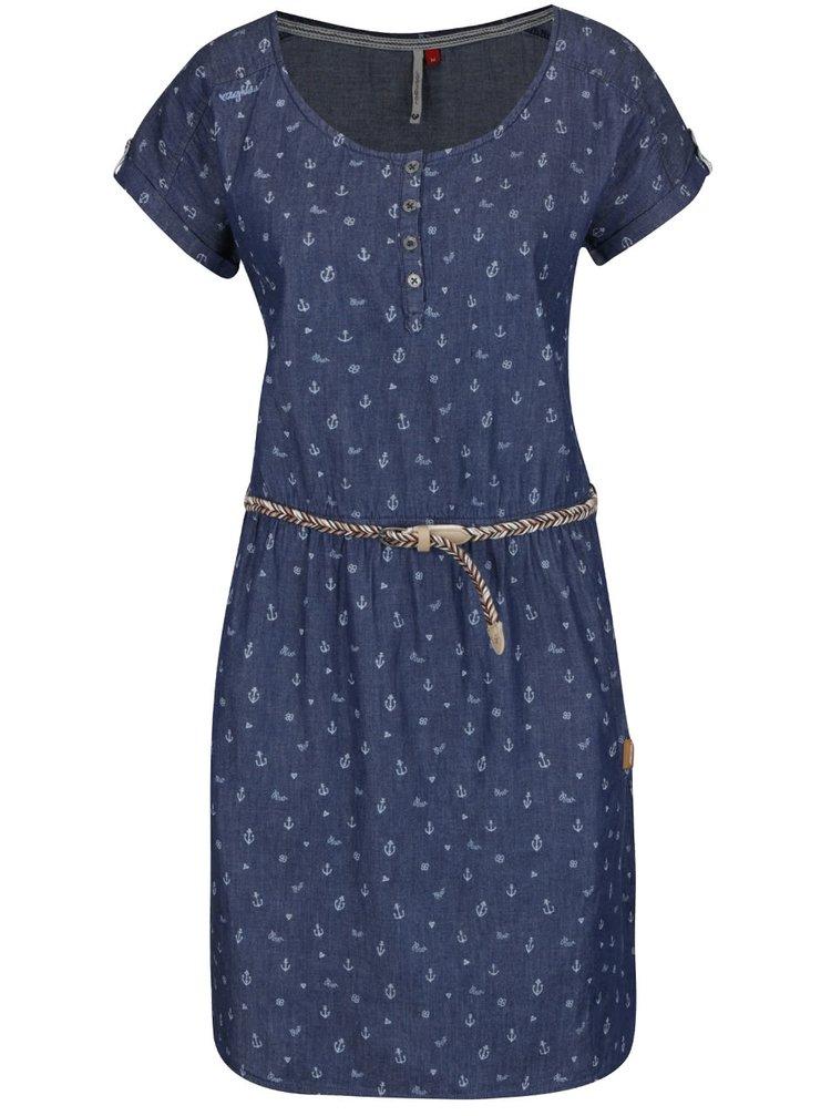 Tmavě modré šaty s páskem Ragwear Geena