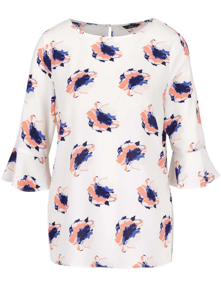 Bluză crem vaporoasă M&Co cu model floral