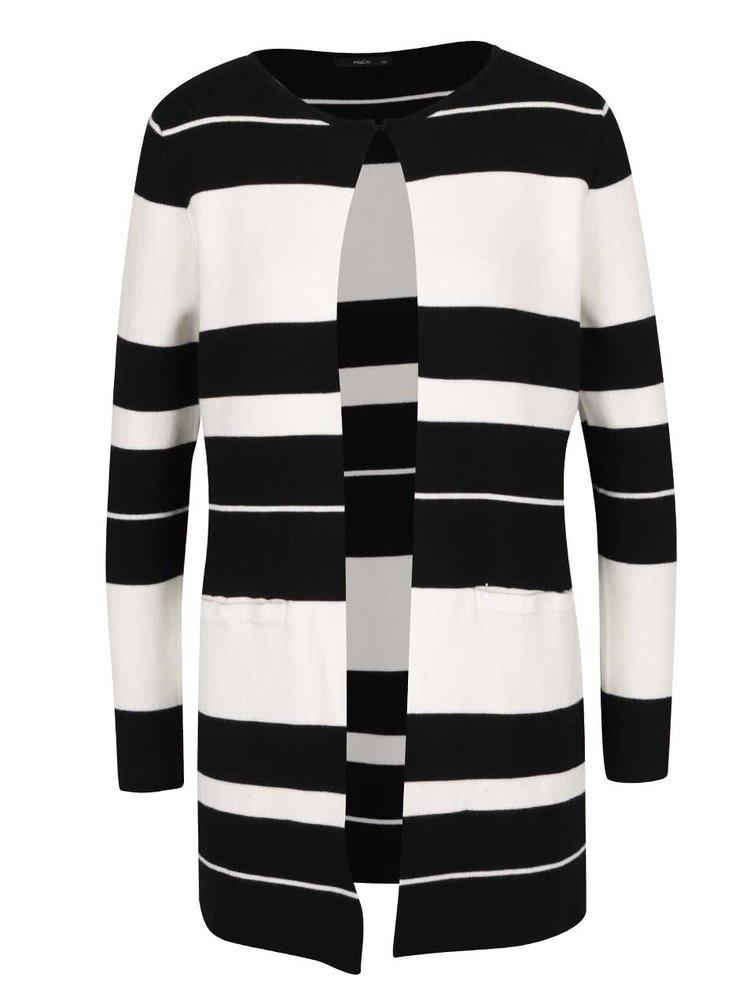 Černo-krémový dámský pruhovaný cardigan M&Co