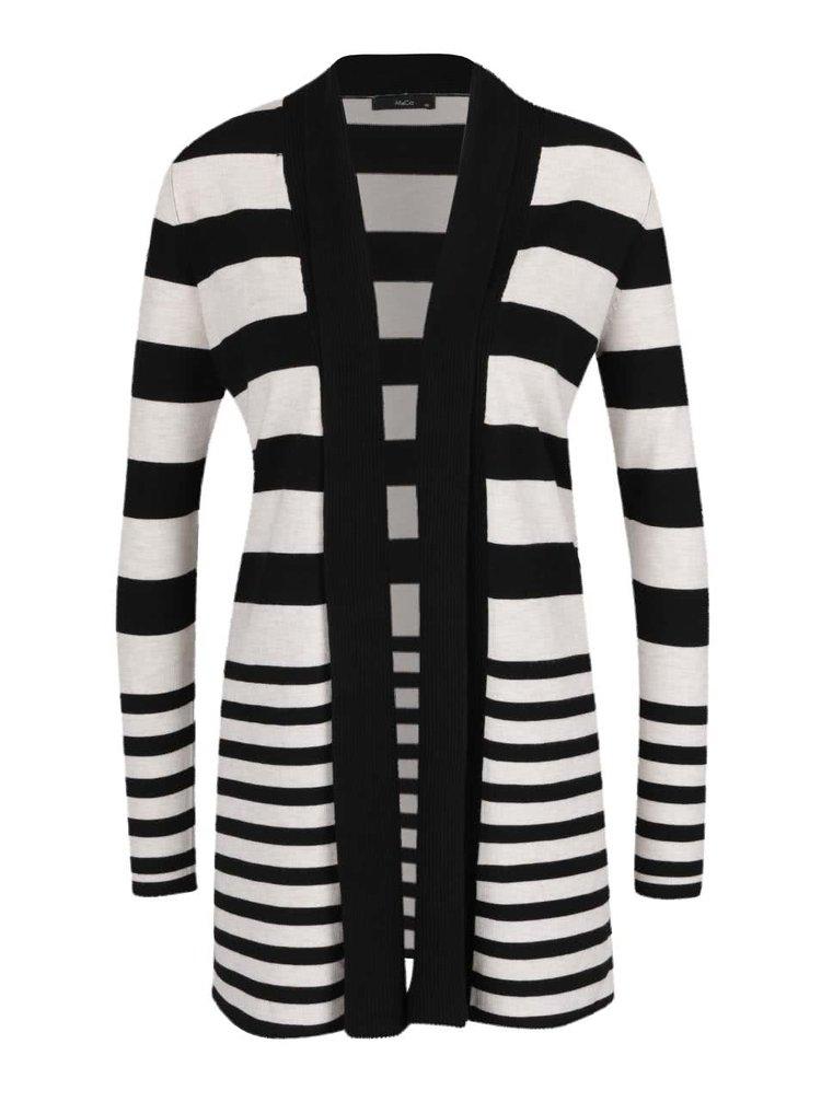 Krémovo-černý dámský pruhovaný cardigan M&Co