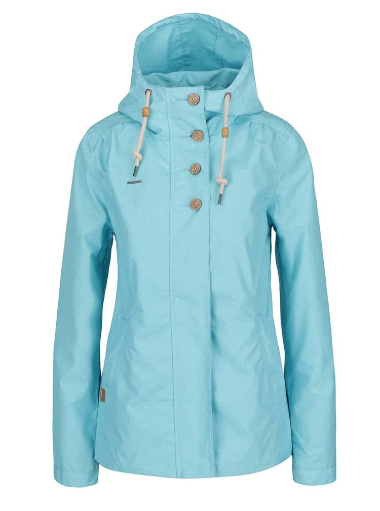 Jachetă albastru deschis Ragwear Lynx dots cu model