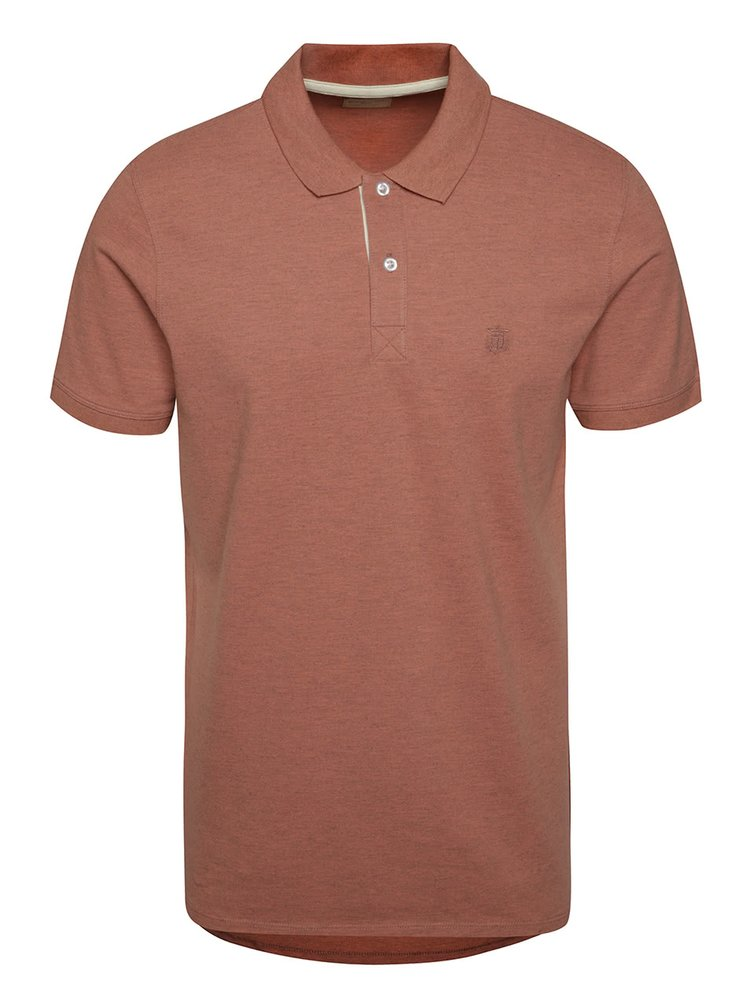 Červené polo tričko Selected Homme Aro