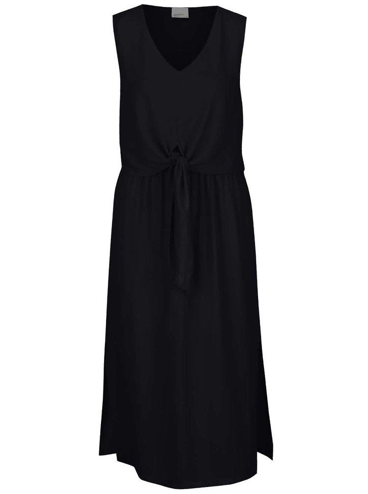 Rochie lungă neagră VERO MODA Zen cu model petrecut