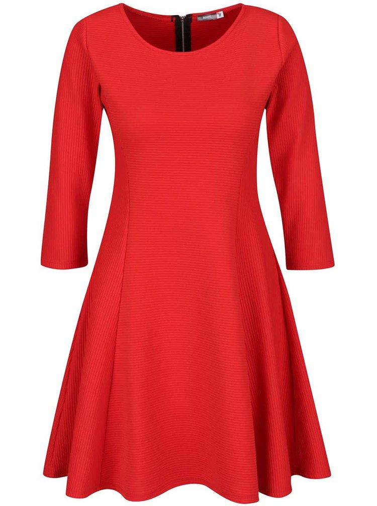 Červené žebrované šaty ZOOT