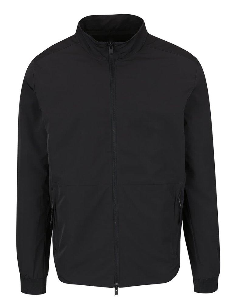Jachetă neagră Selected Homme Ed cu guler înalt