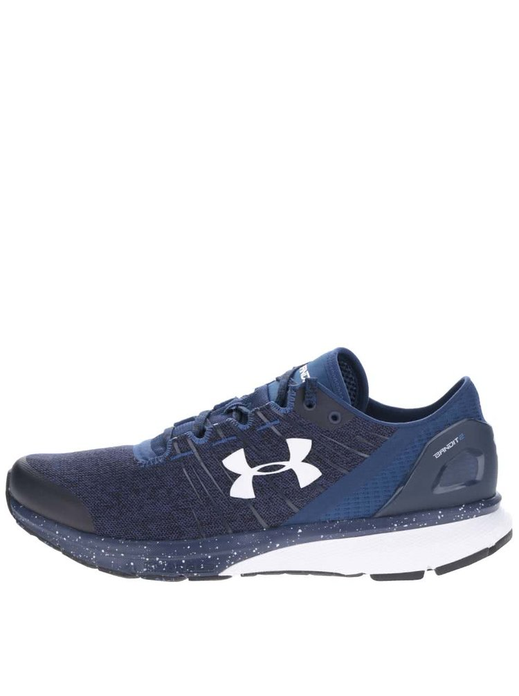 Pantofi sport albaștri Under Armour Charged Bandit 2 cu logo și model