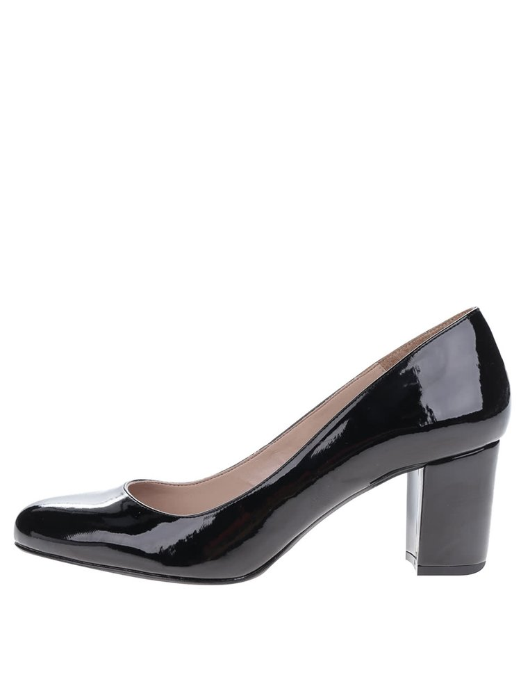 Pantofi negri de lac cu toc OJJU
