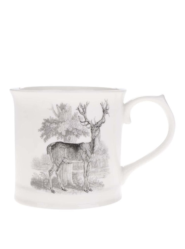 Krémový hrnek s potiskem jelena Magpie Bewick