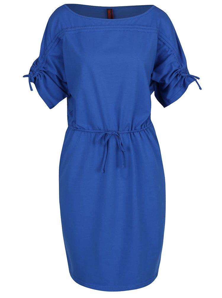 Rochie albastru închis Tranquillo Vilma regular fit cu mâneci medii bufante