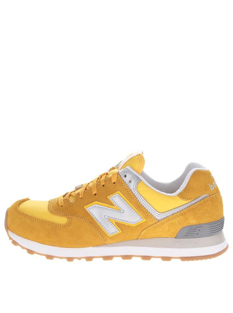 Žluté pánské semišové tenisky New Balance