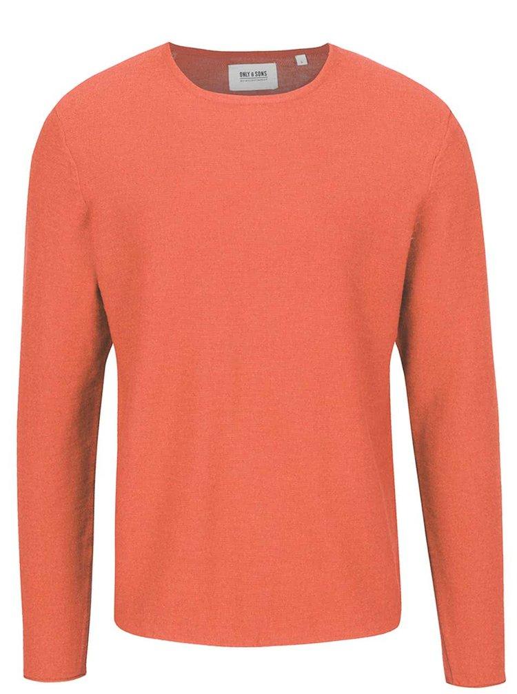 Oranžový svetr ONLY & SONS Paldin