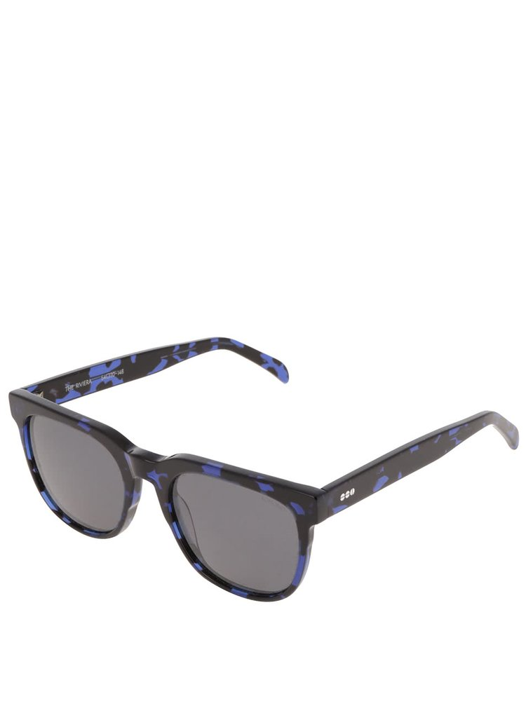 Ochelari de soare albastru & negru Komono Crafted Riviera pentru bărbați
