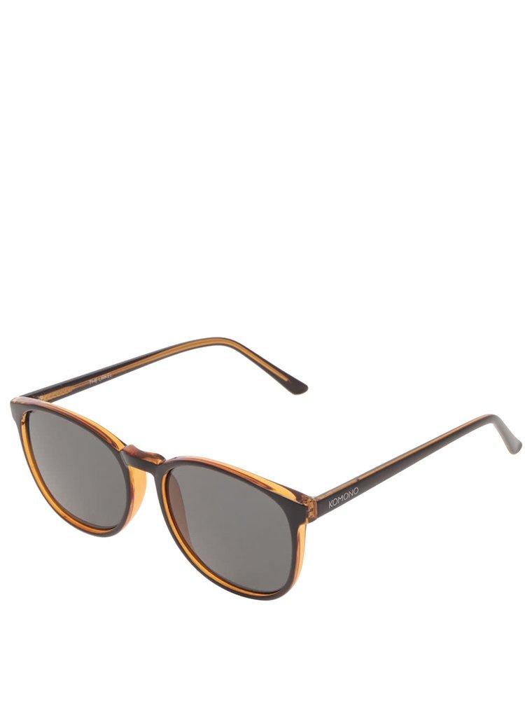 Ochelari de soare negri Komono Urkel pentru bărbați