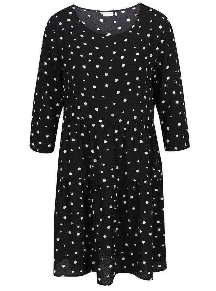 Rochie neagră Jacqueline de Yong Orla cu model cu buline și croi lejer