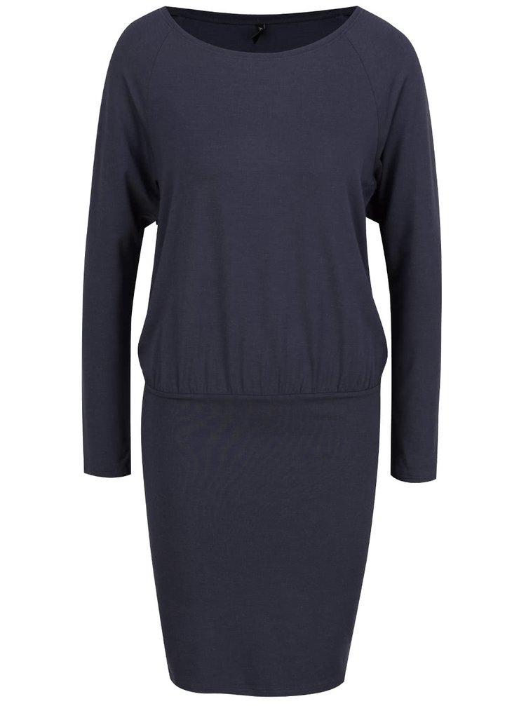 Tmavě modré šaty s volným topem ONLY Sarah