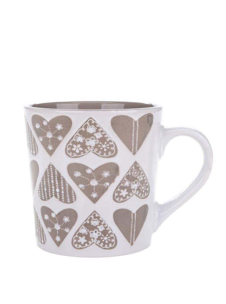 Cană crem & maro Dakls din ceramică cu model