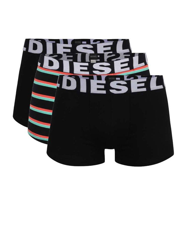Sada tří boxerek v černé barvě Diesel