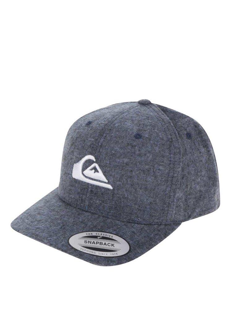 Șapcă gri melanj Quiksilver din bumbac cu logo