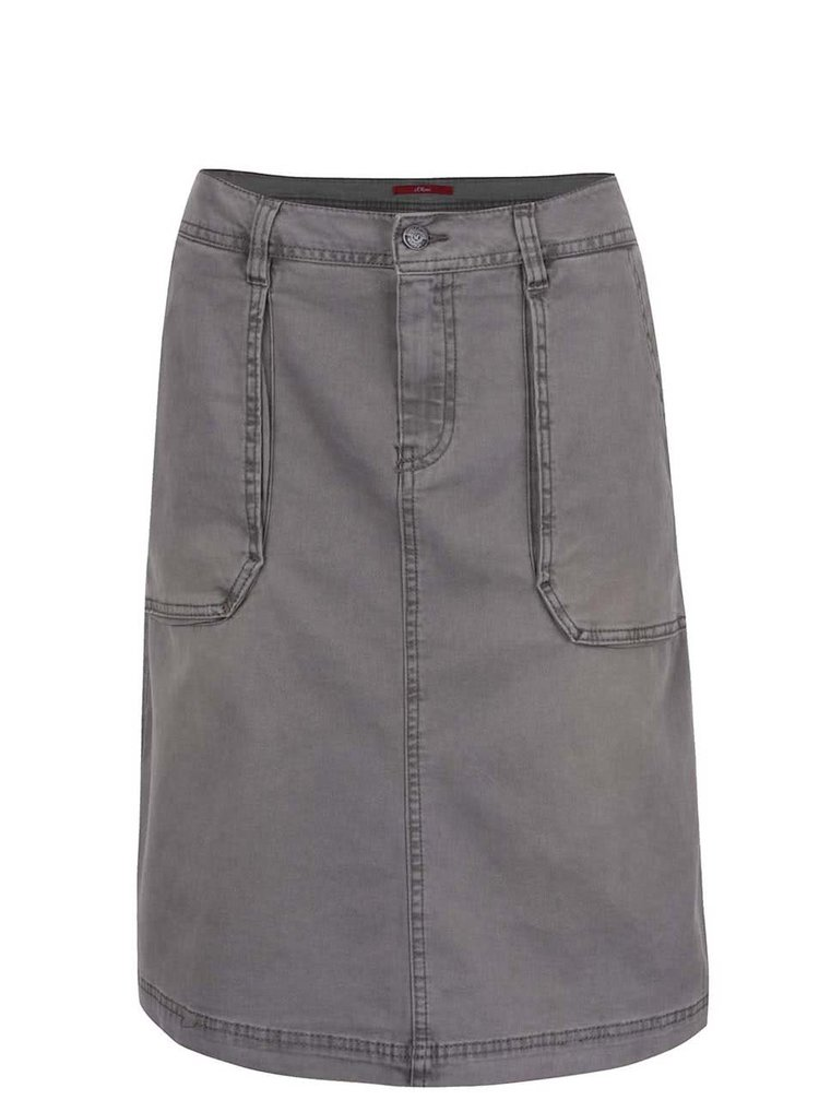 Šedá dámská džínová sukně s.Oliver