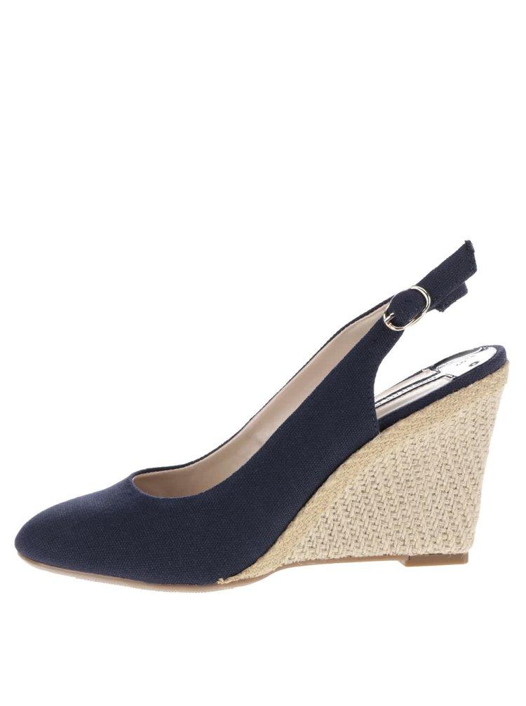 Tmavě modré boty  na klínku Dorothy Perkins